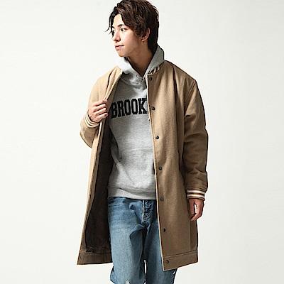 防潑水長版棒球外套大衣(10色) ZIP日本男裝
