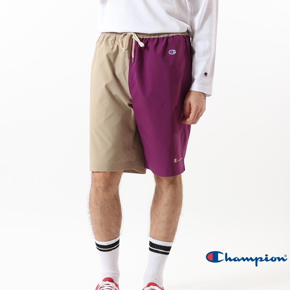 Champion Campus拼色短褲(紫/卡其)