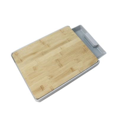 抽屜式竹砧板HM-2707( 32x24.5x5cm)