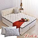(破盤組)LooCa 法國防蹣防蚊+頂級天絲-超厚8cm兩用日式床墊-加大6尺