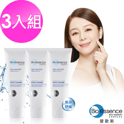 Bio-essence碧歐斯 BIO水感舒緩潔面霜100g(3入組)
