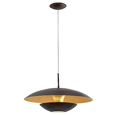 EGLO歐風燈飾 現代黑圓盤式美型吊燈(不含燈泡)