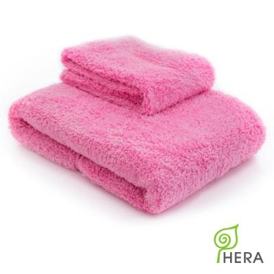 (買就送洗臉巾) HERA 3M專利瞬吸快乾抗菌超柔纖-大浴巾+小浴巾 超值組