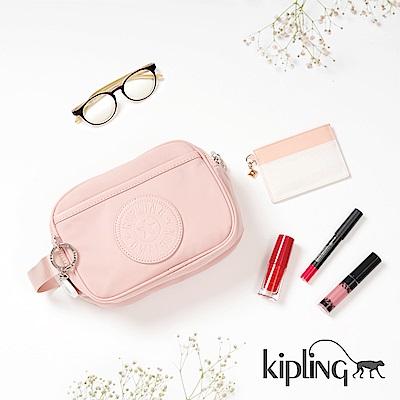 Kipling 化妝包 櫻花粉素面-小