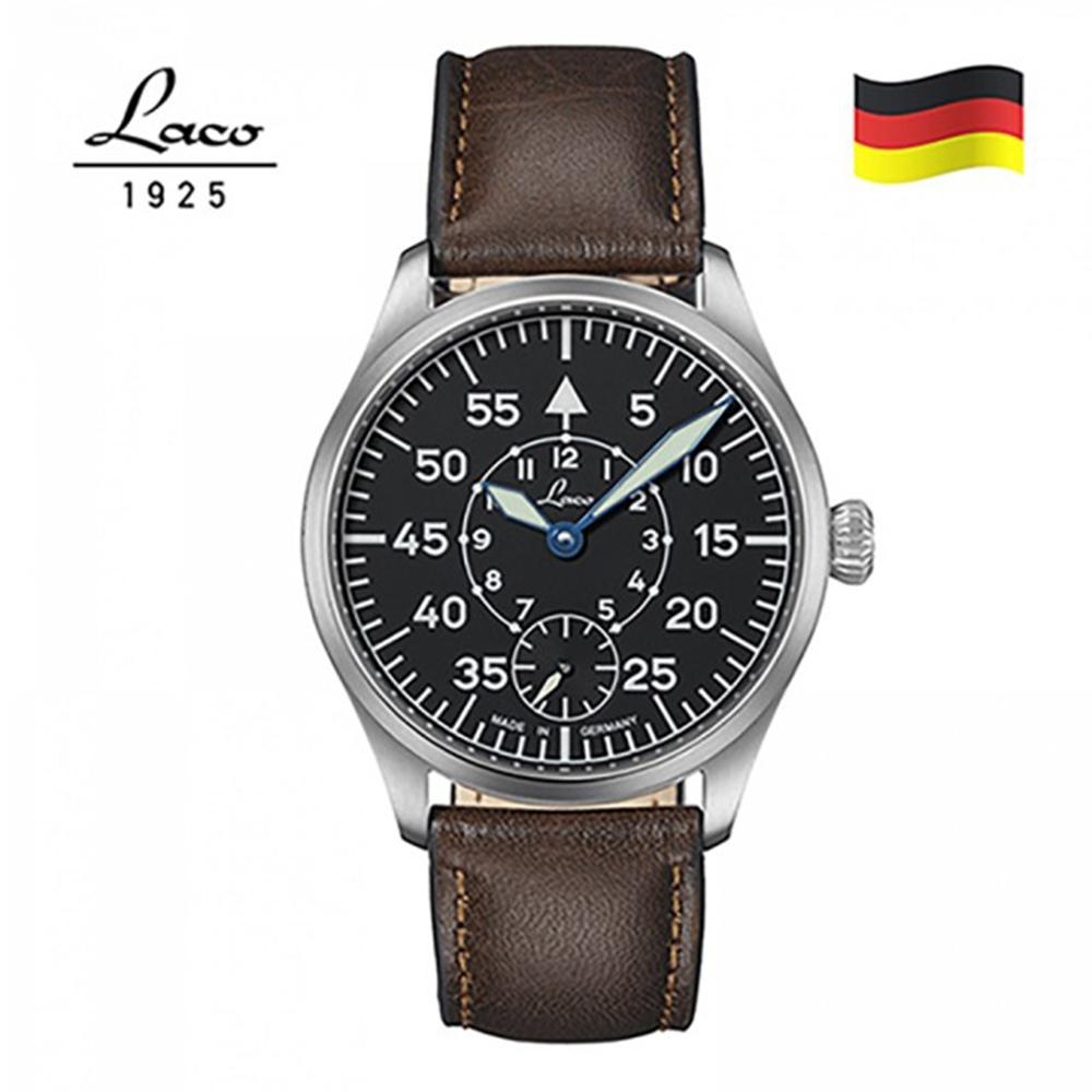 Laco 朗坤 862119 飛行員錶原型 復古飛行員錶 42mm(皮帶 飛行錶 復古錶)