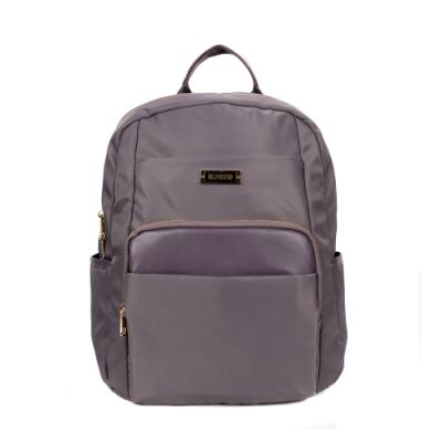 ANGIMI SHOP 後背防潑水通勤多口袋包 漫遊貝兒-紫灰色