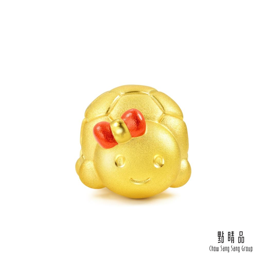 點睛品 Charme 可愛小龜 黃金串珠