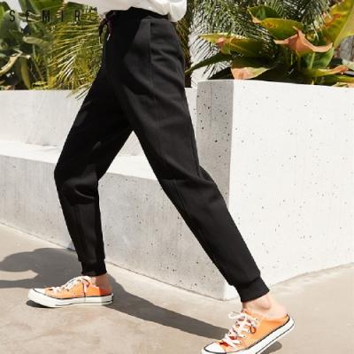 SEMIR森馬-造型綁帶運動縮口長褲-女