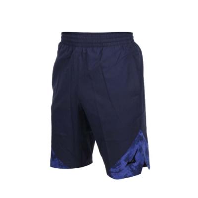 男平織短褲-五分褲 慢跑 路跑 美津濃 丈青藍