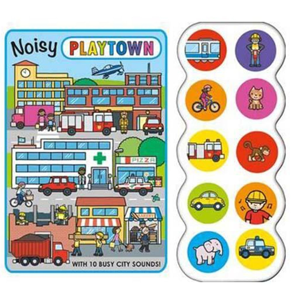 Playtown:Noisy Playtown 熱鬧的歡樂城硬頁有聲書(英國版)