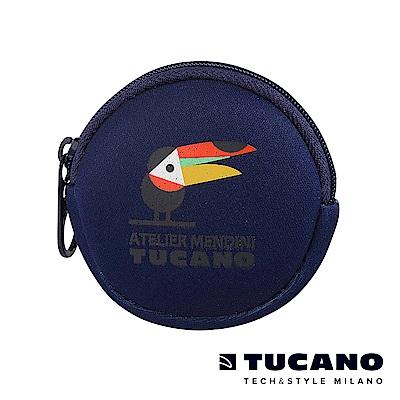 TUCANO X MENDINI 圓形零錢包-大嘴鳥藍