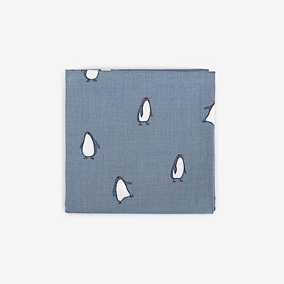 Dailylike 北歐風綿質手帕-49企鵝藍