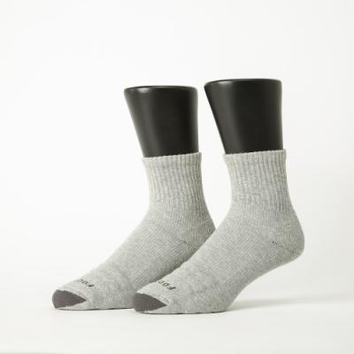 Footer除臭襪-螺旋氣墊輕壓力襪-六雙入(黑色*2+灰色*2+白色*2)