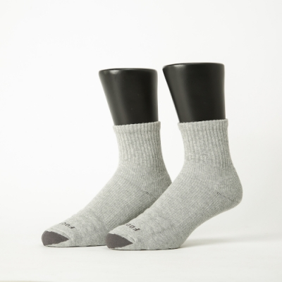 Footer除臭襪-螺旋氣墊輕壓力襪-六雙入(灰色*2+黃色*2+藍色*2)