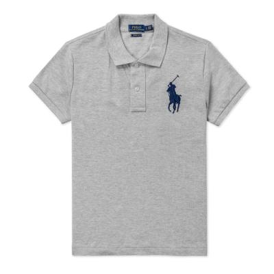 Polo Ralph Lauren 年度熱銷刺繡大馬短袖POLO衫(SKINNY FIT)(女)-灰色