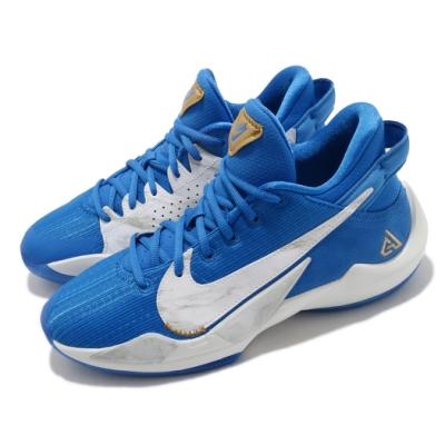 Nike 籃球鞋 Freak 2 SE 運動 女鞋 明星款 字母哥 避震 包覆 運動 球鞋 藍 白 CZ4177408