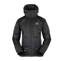 法國【EiDER】男款專業保暖抗雪透氣羽絨連帽外套 / 4EIV2795-經典黑