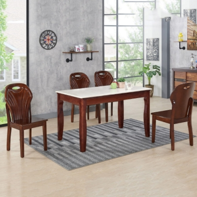 MUNA 挪達4.3尺石面餐桌(不含椅) 130X80X76.5cm