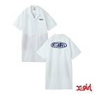 X-girl WARP LG SHIRT DRESS OVERSIZE短袖襯衫-白
