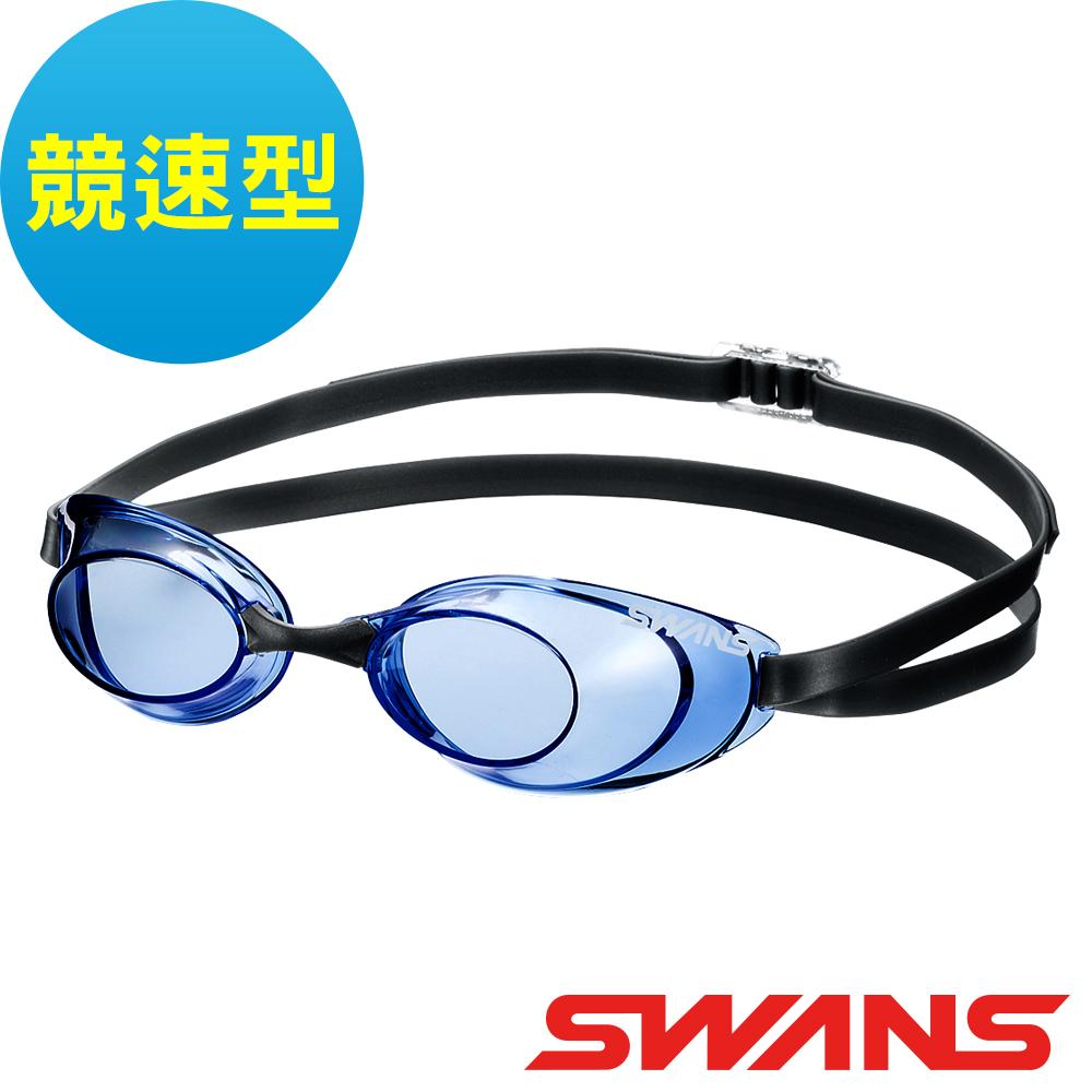 【SWANS 日本】光學競速型泳鏡 (防霧/抗UV/ SR-10N 藍 )