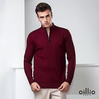 歐洲貴族oillio 長袖毛衣 立領款式 簡約設計 紅色