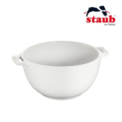 法國Staub 陶瓷沙拉缽 18cm 白色