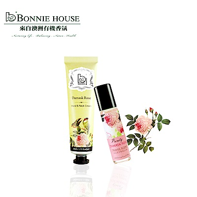 Bonnie House 大馬士革玫瑰手頸霜40ml+大馬士革玫瑰香氛棒10ml