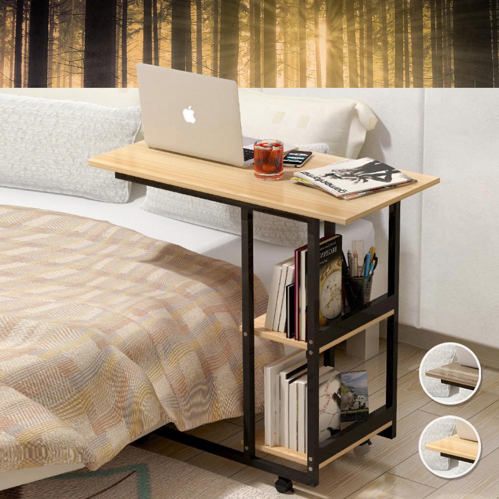 【Incare】時尚簡約移動式床邊桌(2色可選)