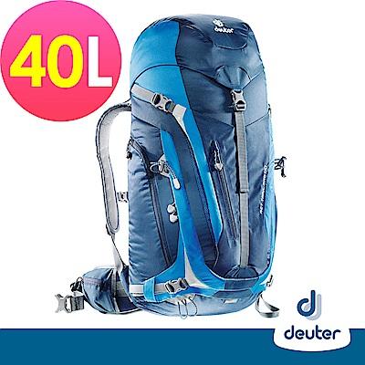 【deuter德國】ACT Trail PRO 40L拔熱透氣背包3441315深藍/藍