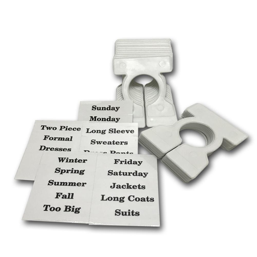 金德恩 台灣製造 衣物衣架分類標示夾 20個/組 (附23張示別貼紙)
