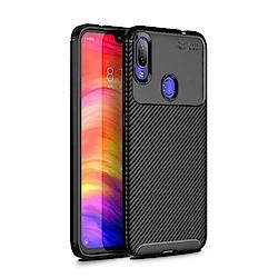 PKG 紅米Note7 手機殼時尚碳纖紋路+抗指紋-NEW