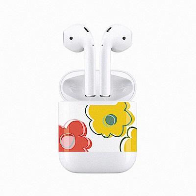 mogen AirPods 隨身耳機保護貼 朵朵花款