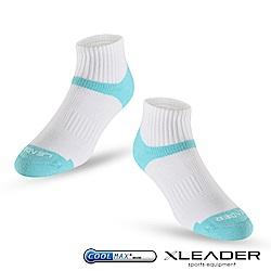 LEADER COOLMAX除臭機能運動襪 男款 白藍 - 快速到貨