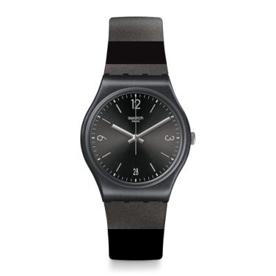 Swatch Gent Standard 原創系列手錶 BLACKERALDA 黑夜寶石-34mm