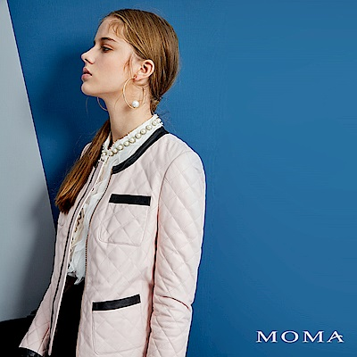 MOMA 經典小香風羊皮外套