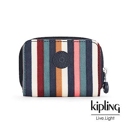 Kipling 短夾 彩色拼接條紋-小