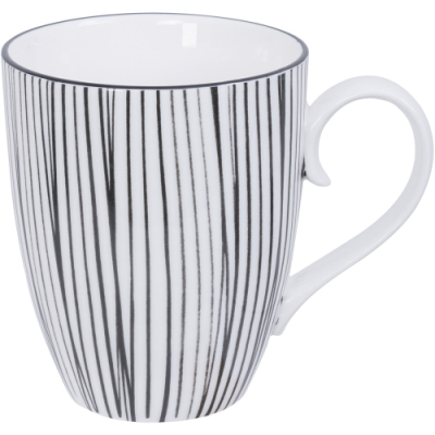 《Tokyo Design》瓷製馬克杯(線紋黑325ml)