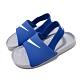 Nike 涼拖鞋 Kawa Slide 套腳 童鞋 輕便 舒適 夏日 大logo 小童 藍 白 BV1094400 product thumbnail 1