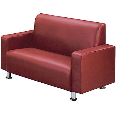 綠活居 巴迪時尚皮革二人座沙發椅(三色)-130x73x80cm免組