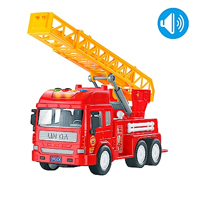 Slider聲光磨輪工程車 消防雲梯車