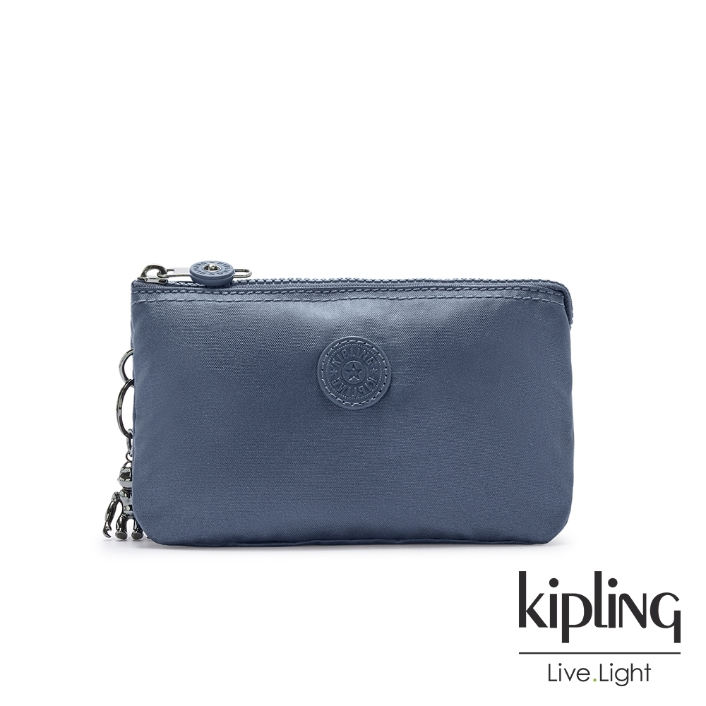 Kipling 個性霧灰藍三夾層配件包-CREATIVITY L product image 1