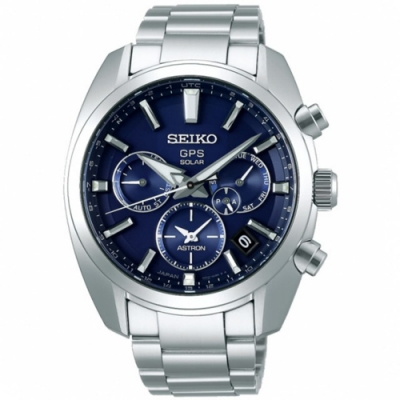SEIKO精工ASTRON雙時區太陽能手錶(5X53-0AJ0B SSH019J1 )