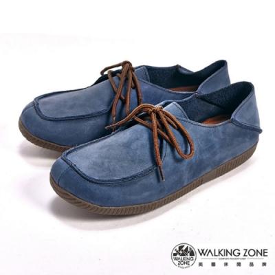WALKING ZONE可踩式雙穿休閒女鞋-藍(另有紅、棕)