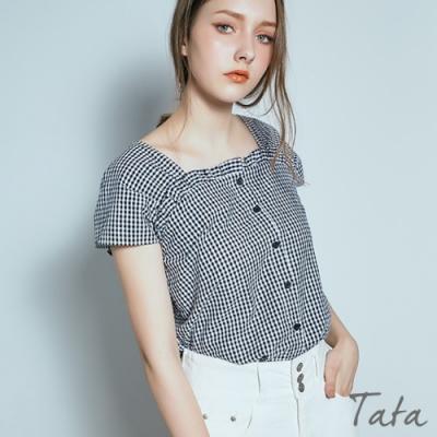 格紋排扣上衣 TATA-F