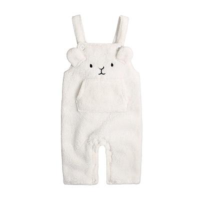 baby童衣 舒棉絨動物造型吊帶褲 82040