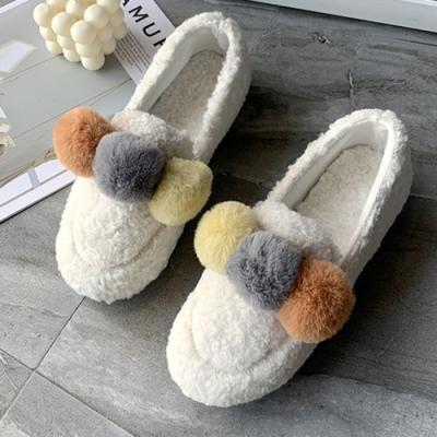 KEITH-WILL時尚鞋館-明星款舒適透氣毛球絨毛鞋-白色