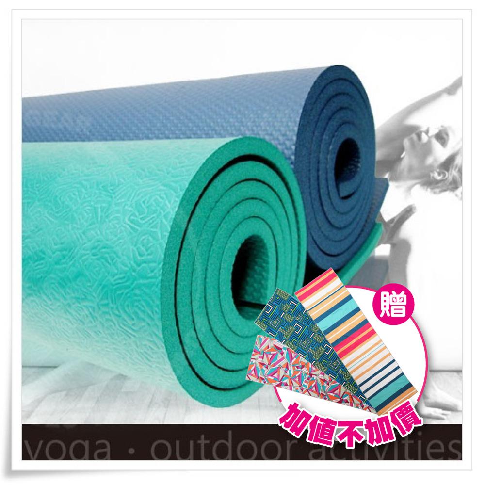【SGS國際認證】NBR 專業單人雙壓紋10mm瑜珈墊-送運動毛巾