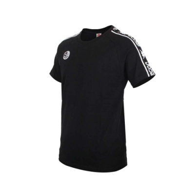 KAPPA DD52聯名男女短袖T恤-限量-菱格世代 純棉 台灣製 休閒上衣 33145CW-005 黑黑白