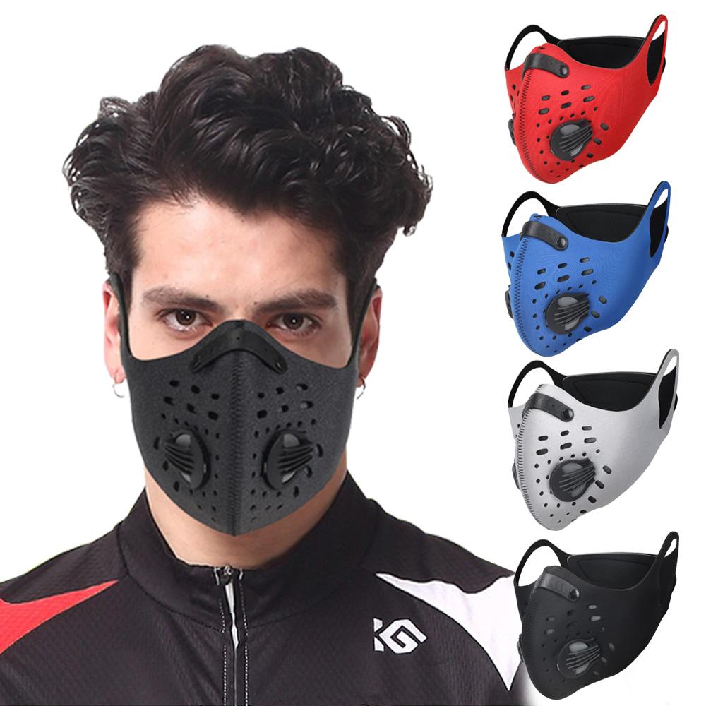 活力揚邑 耳掛純色戶外運動機車防風防塵防霾多重防護氣閥立體口罩