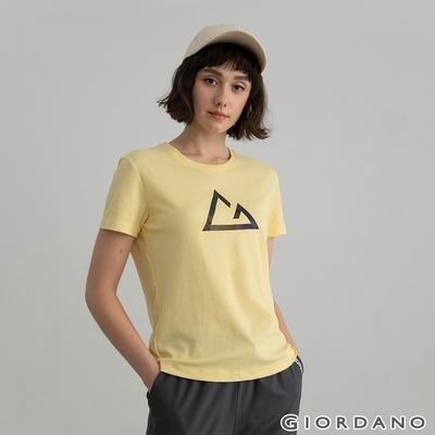 GIORDANO  女裝G-motion快乾棉T恤 - 46 淡香蕉黃